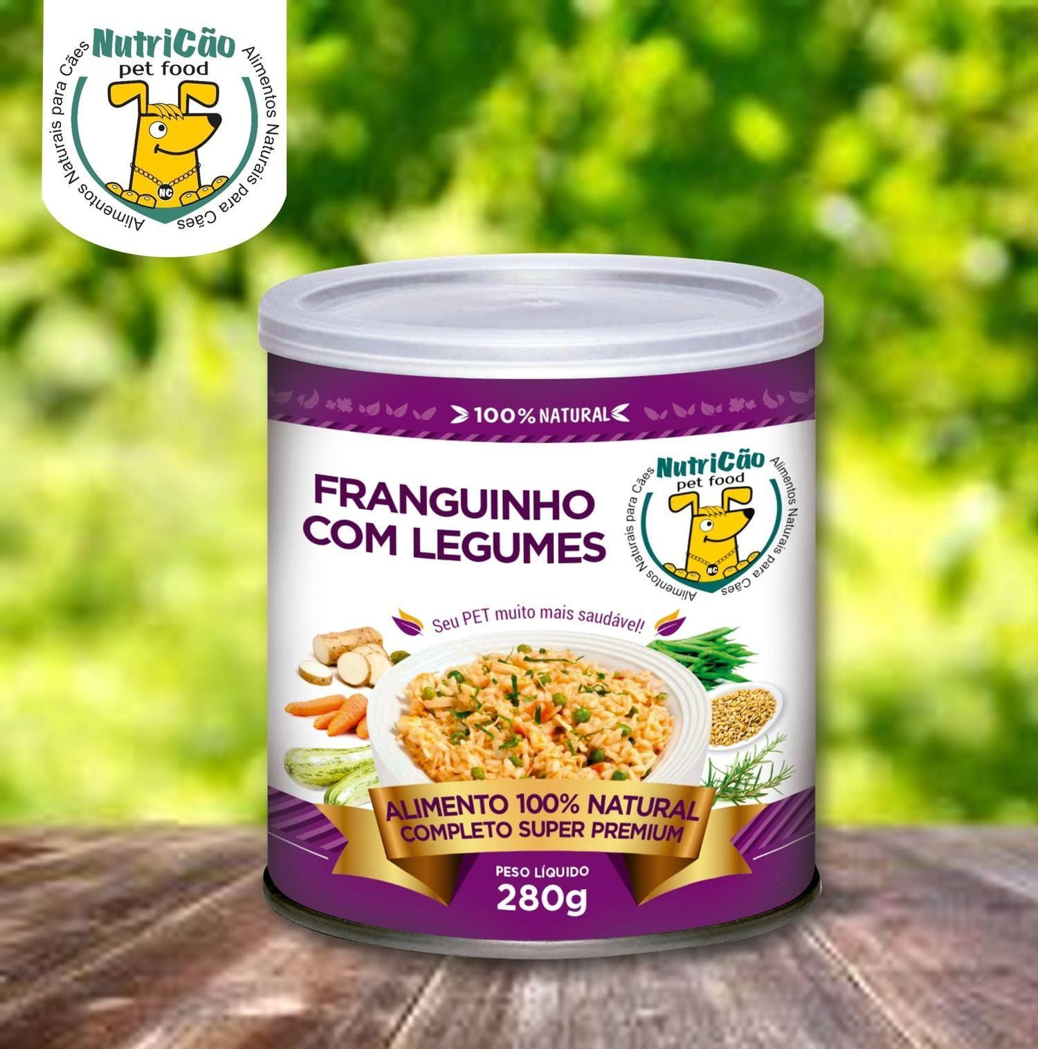 ALIMENTAÇÃO NATURAL FRANGUINHO COM LEGUMES 12 unds x 280 Gr