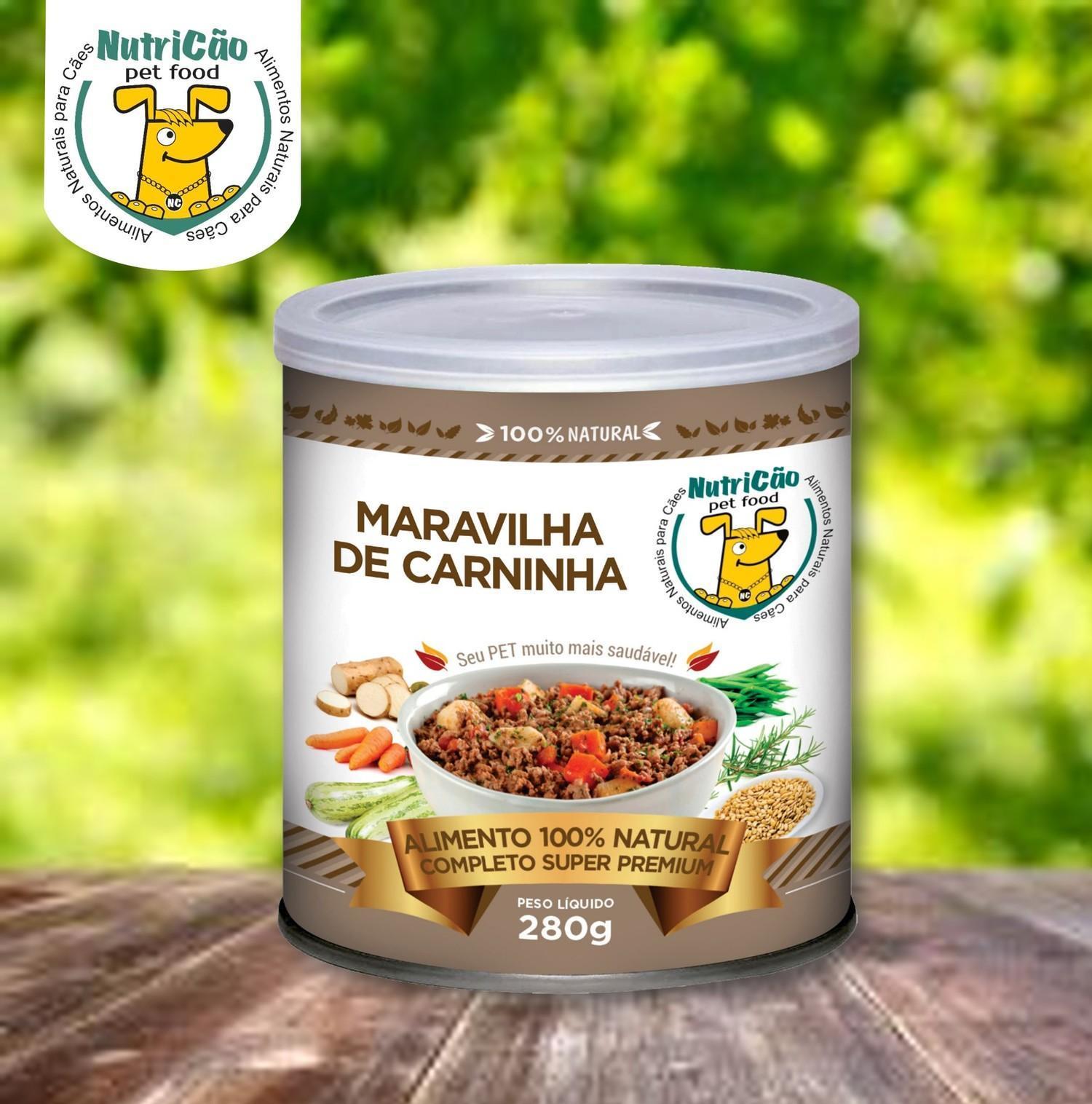 ALIMENTAÇÃO NATURAL MARAVILHA DE CARNINHA 12 unds x 280 Gr