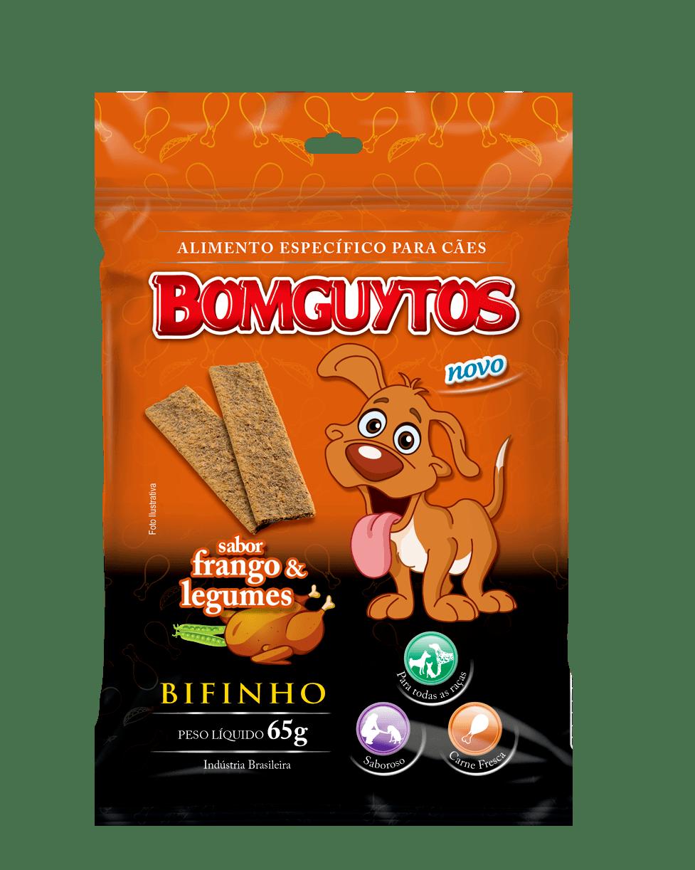 Bifinho Bomguytos Frango Com Legumes (80 unidades de 65Gr)