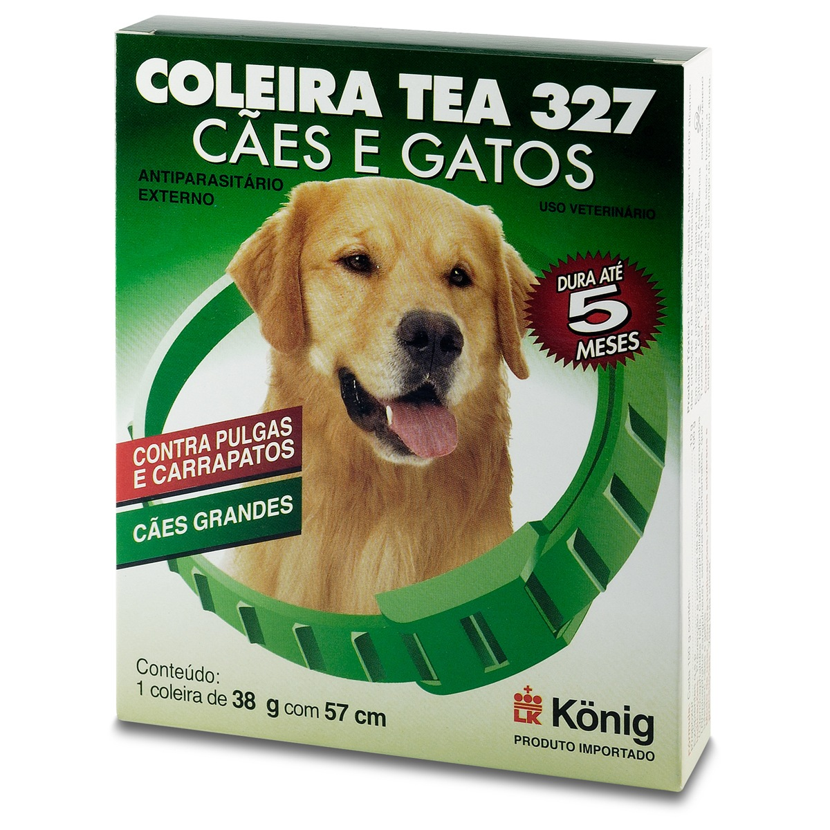 Coleira Antipulgas para Cães Tea Konig 38 gr 57 cm