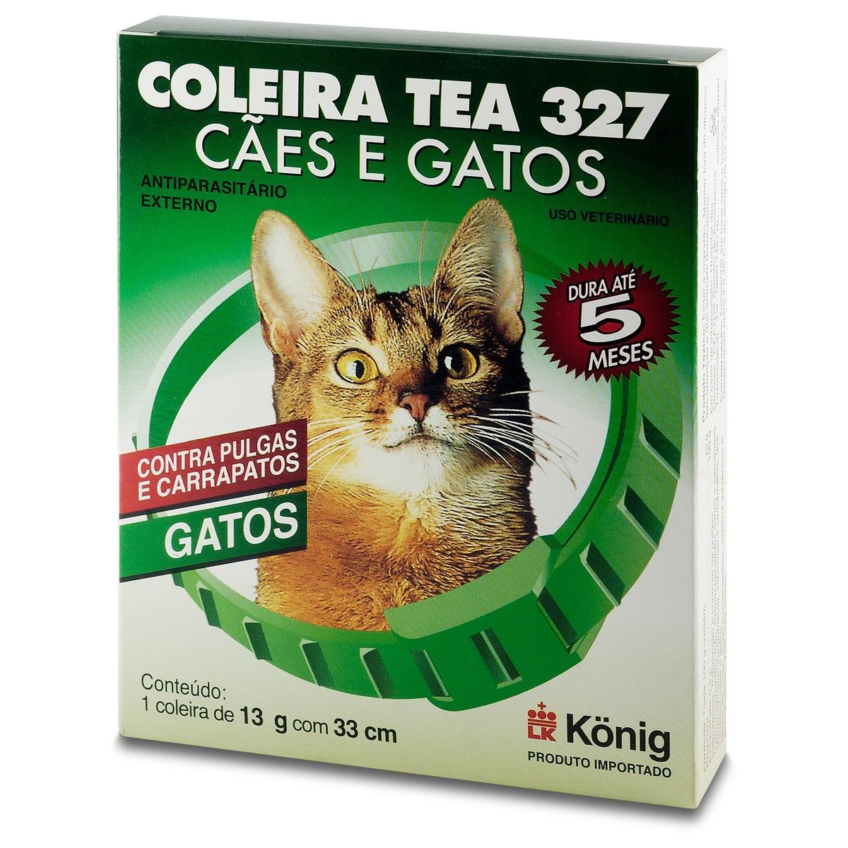 Coleira Antipulgas para Gatos Tea Konig 13gr 33 cm