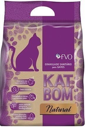 Katbom Natural Granulado Sanitário (6 pacotes de 3Kg)