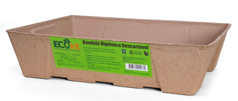 Bandejas higiênicas descartáveis e biodegradáveis