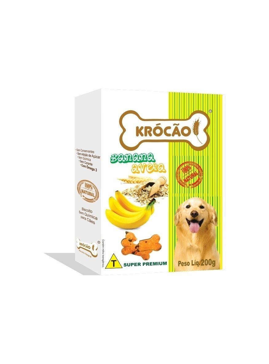 Krocão Biscoito Integral  Banana C/ Aveia  (30 caixasde 200Gr)