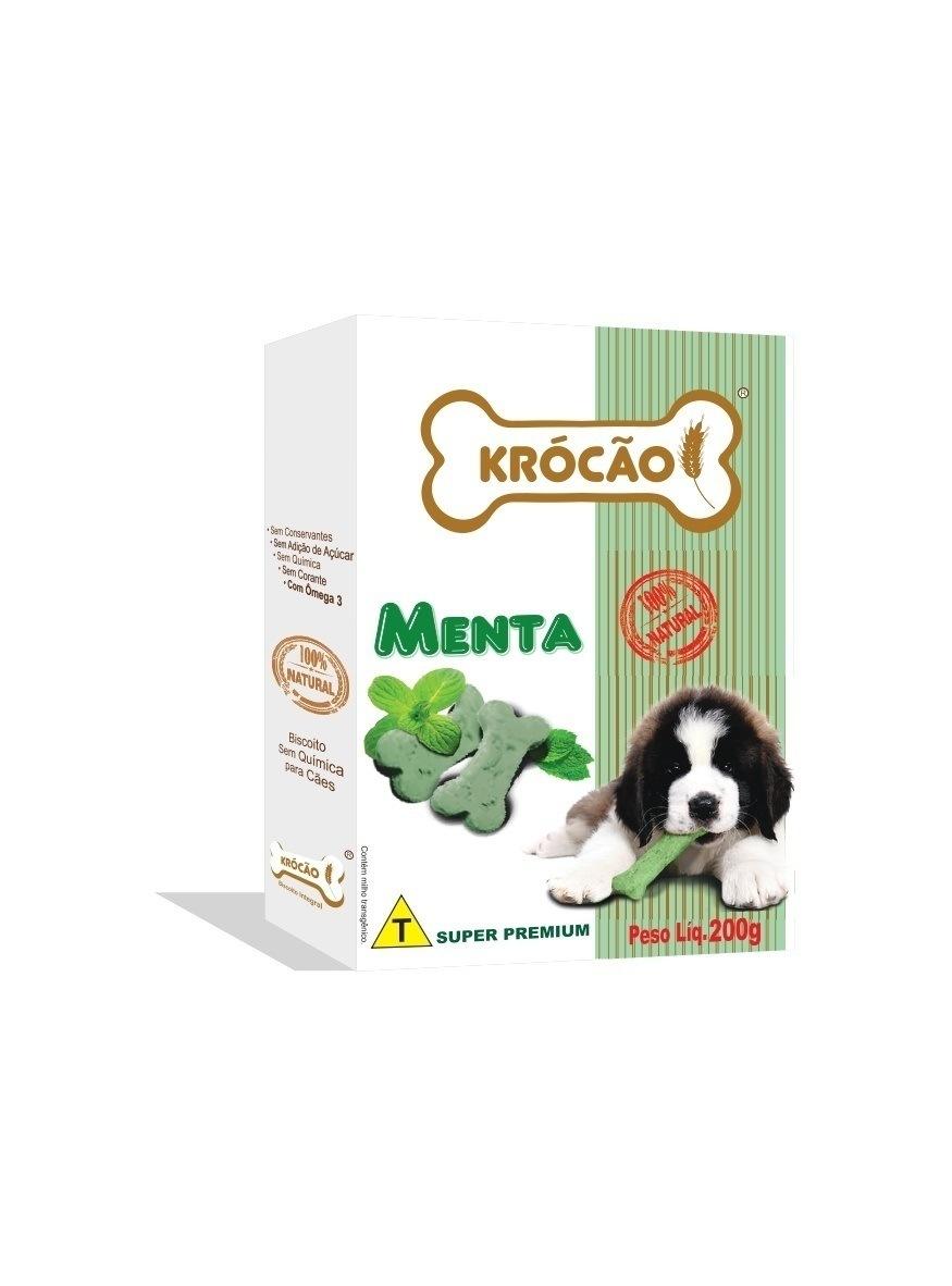 Krócão Biscoito Integral Ossinho Menta (30 caixasde 200Gr)