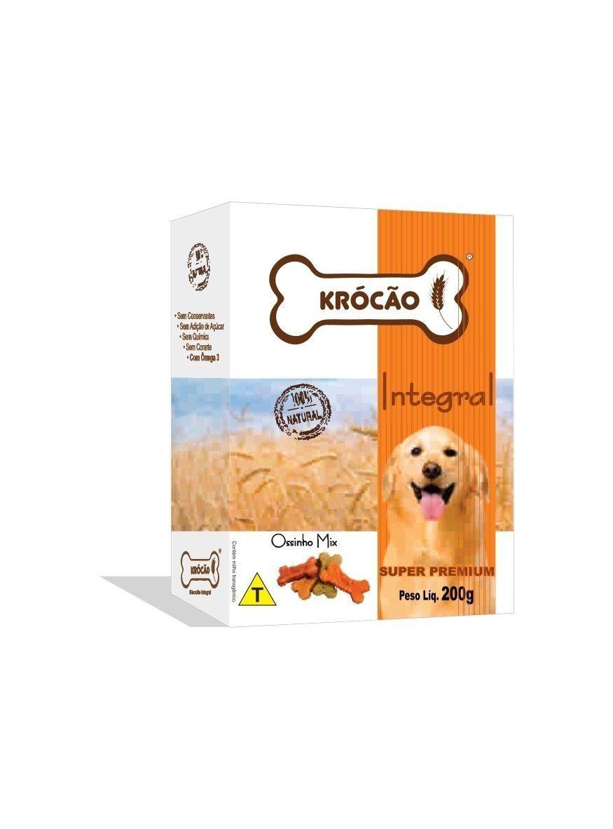 Krocão Biscoito Integral Ossinho Mix (30 caixasde 200Gr)