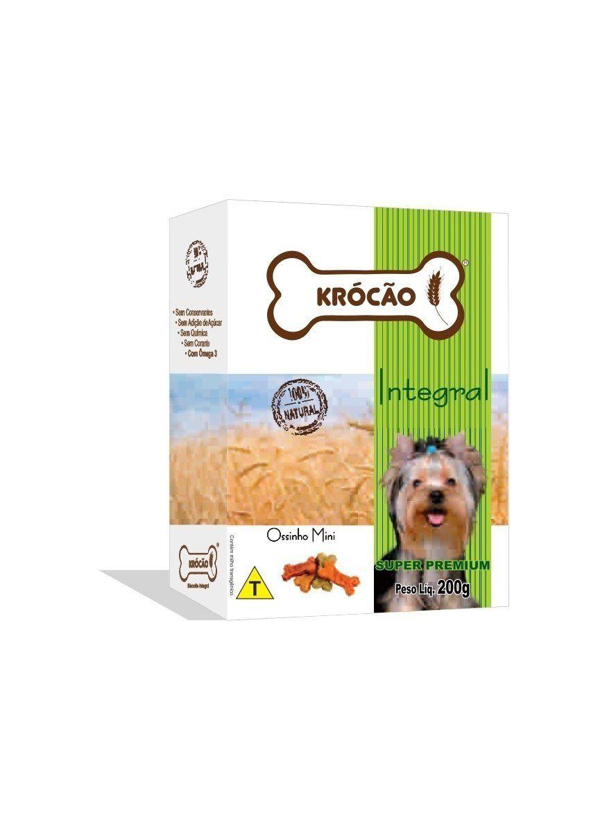 Krocão Biscoito Integral Ossinho Mix Mini (30 caixasde 200Gr)