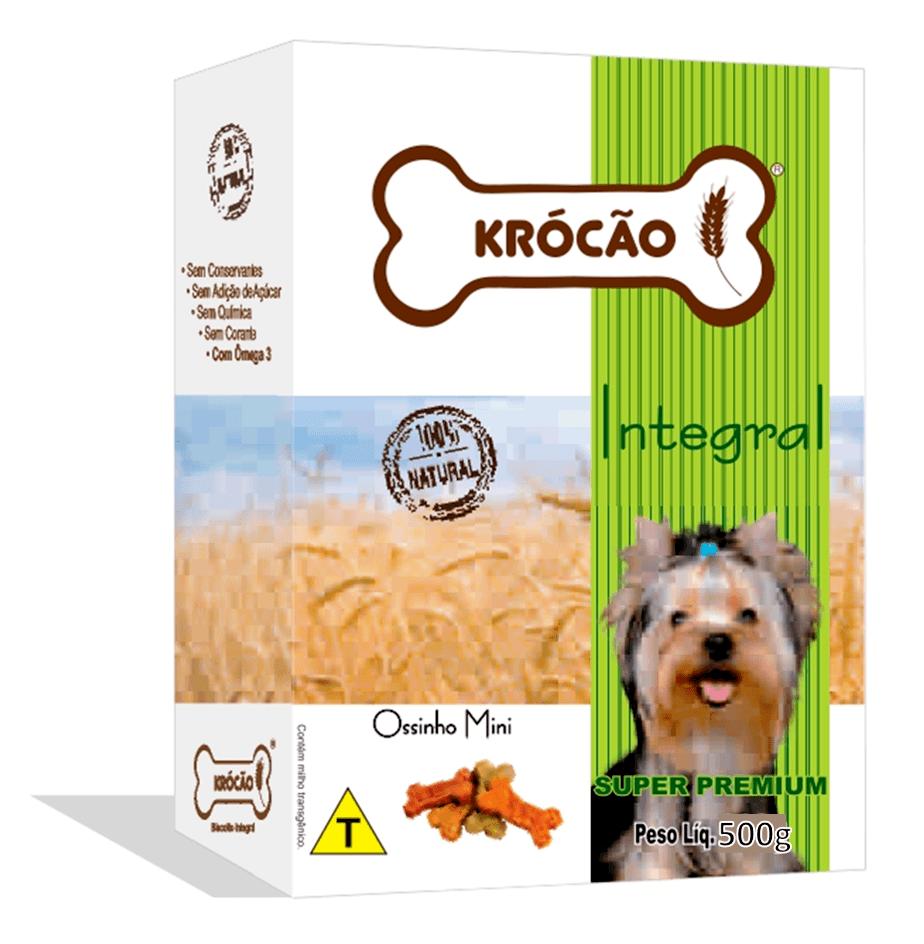 Krocão Biscoito Integral Ossinho Mix Mini (16 caixas de 500Gr)