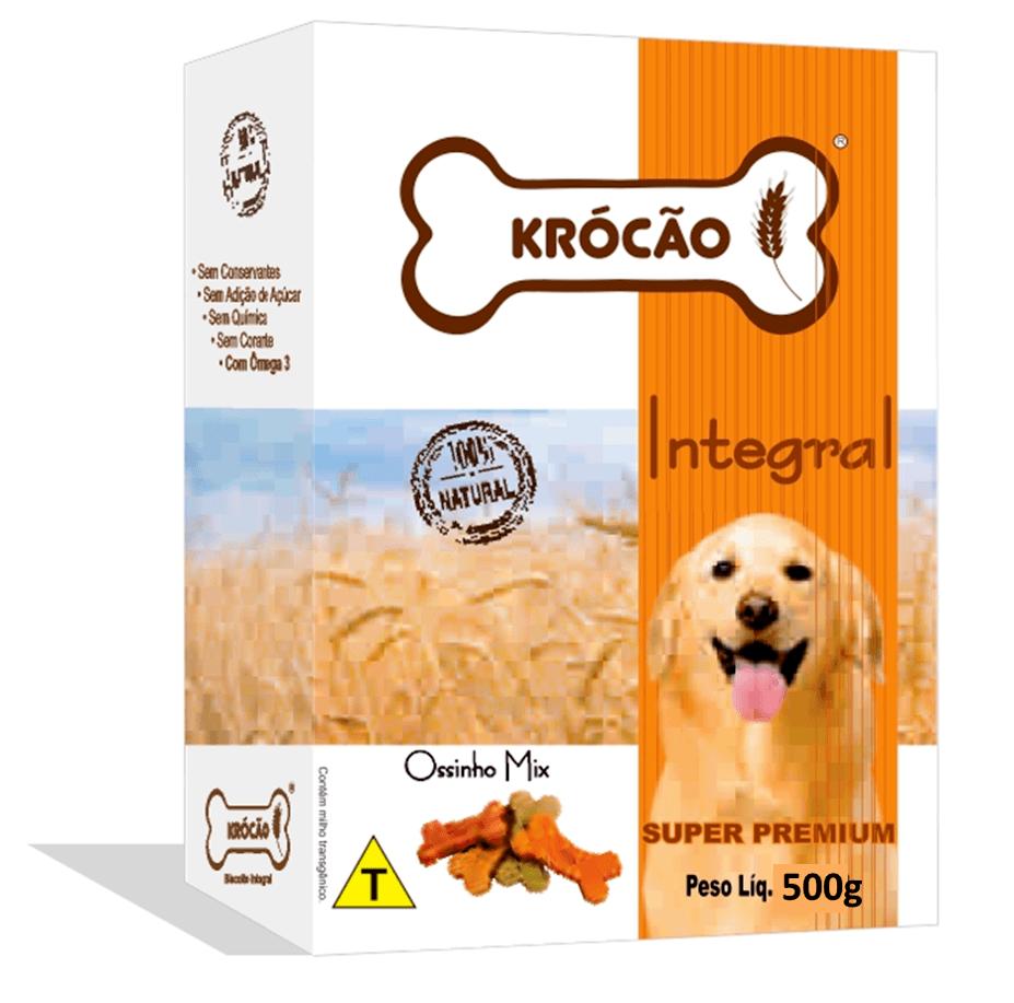 Krocão Biscoito Integral Ossinho Tradicional (16 caixas de 500Gr)