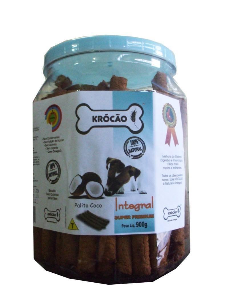 Krocão Biscoito Integral Palito Coco  (11 Potes de 900Gr)