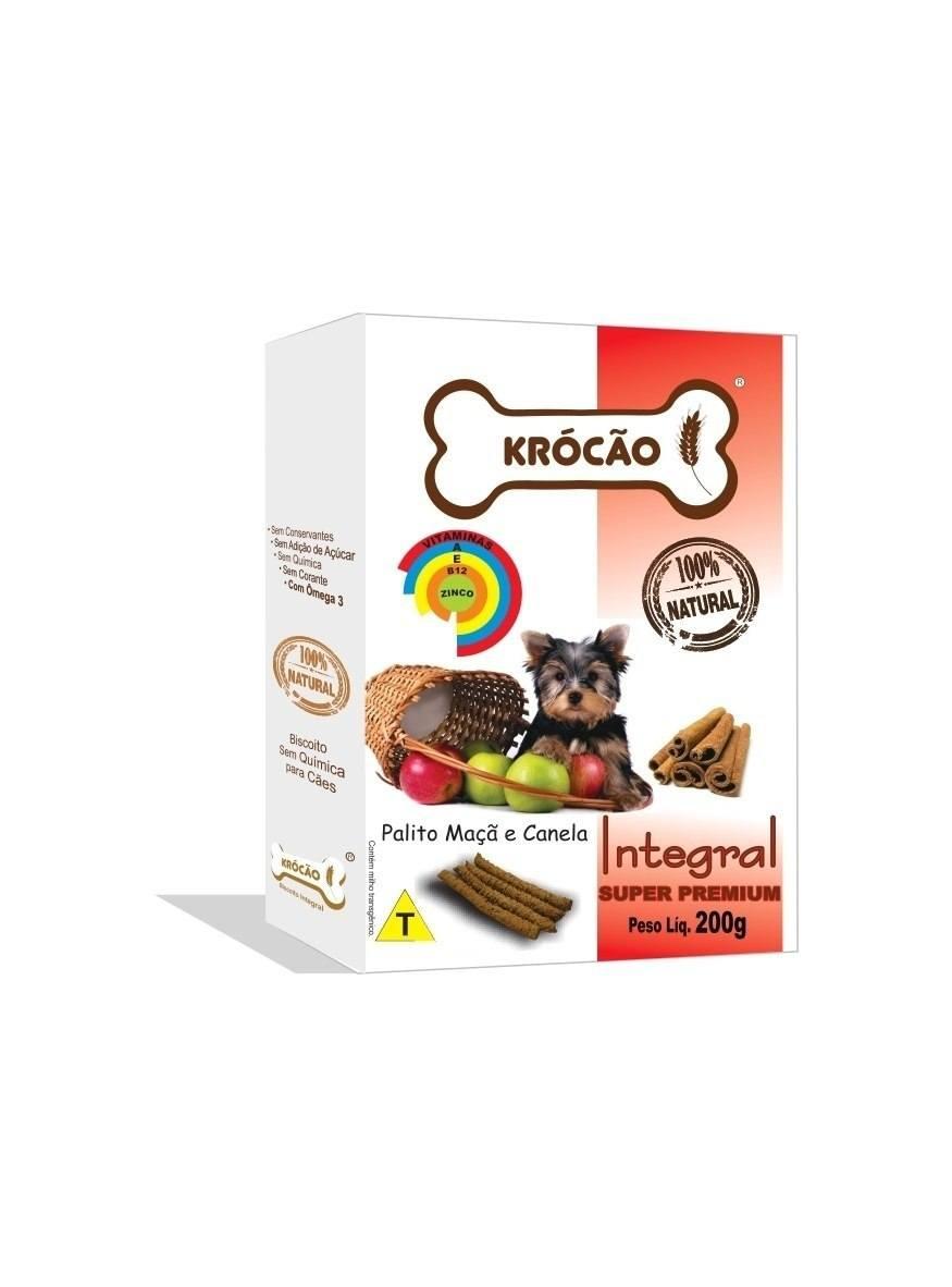 Krocão Biscoito Integral Palito Maça C/ Canela  (30 caixasde 200Gr)