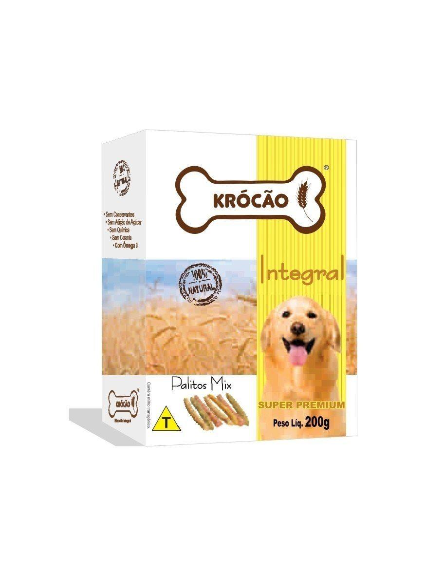 Krocão Biscoito Integral Palito Mix (30 caixasde 200Gr)