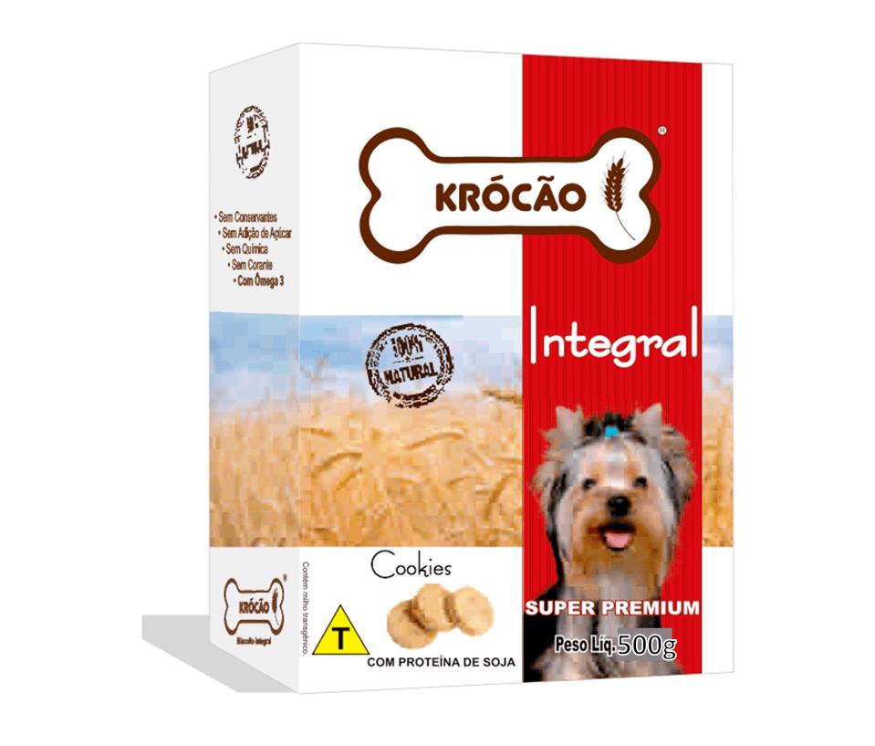 Krocão Cookie Integral C/ Carne De Soja (30 caixasde 200Gr)