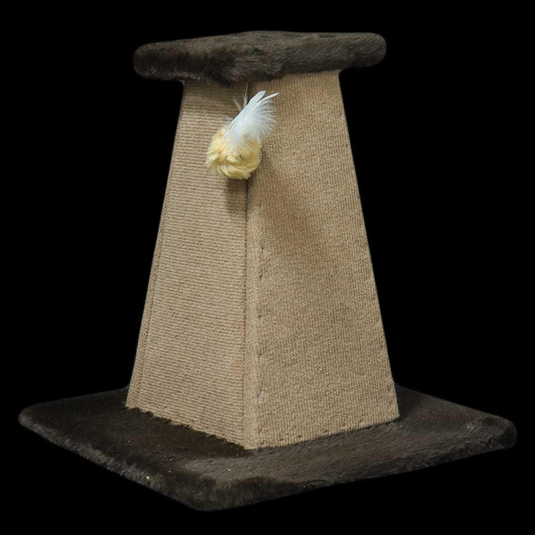 Arranhador Pirâmide Marrom e Bege