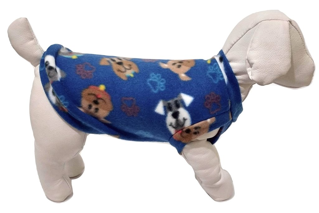 Roupa Capa Soft Cachorro Azul Estampa De Cachorrinho Gg
