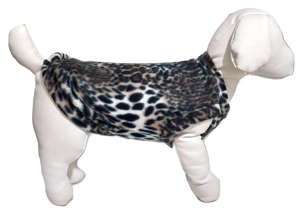 Roupa Capa Soft Para Cachorro  Cor Estampa De Onça Tamanho G