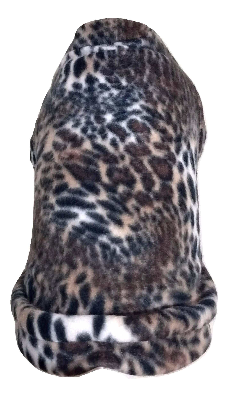 Roupa capa soft para cachorro estampa onça tamanho M