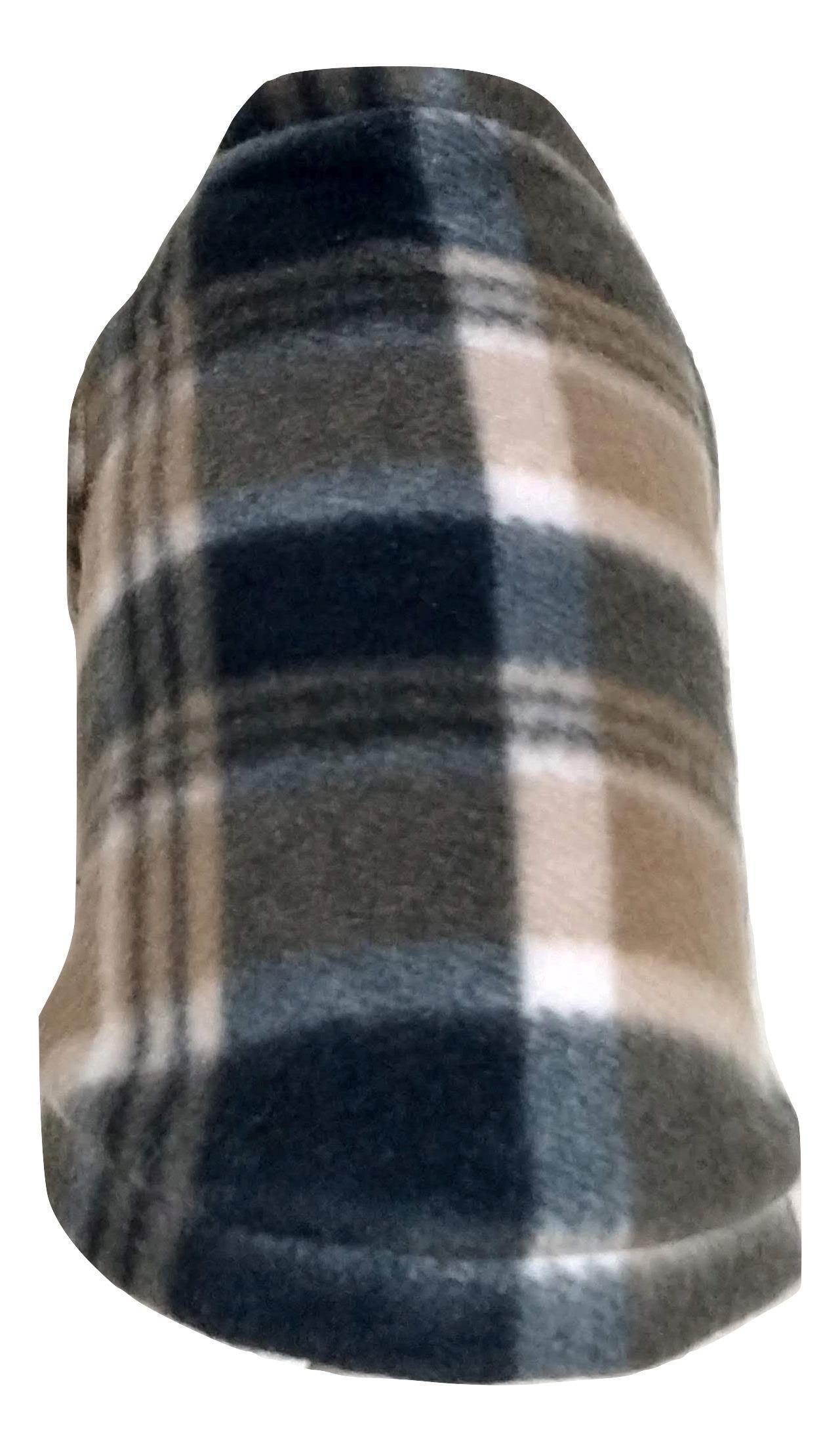 Roupa capa soft para cachorro xadrez claro  tamanho P