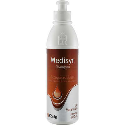 Shampoo Ectoparasiticida König Medisyn 200 ml