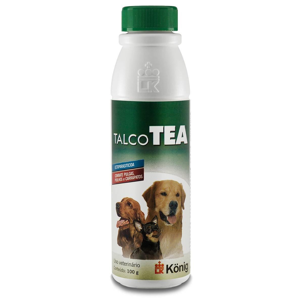 Talco Ectoparasiticida König TEA para Cães 100 gr