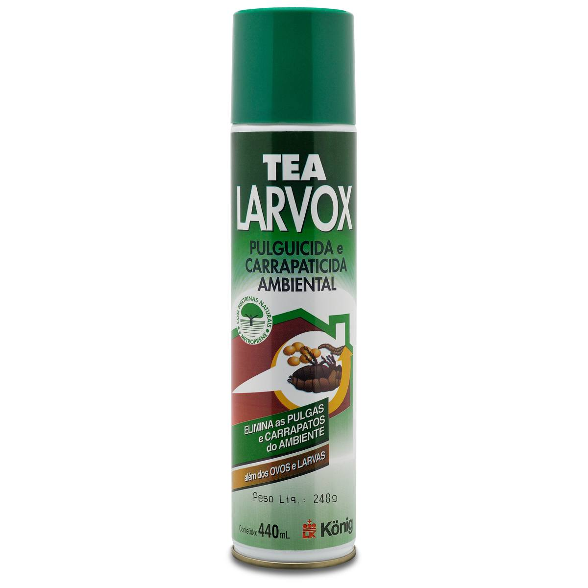 Pulguicida Carrapaticida Aerosol Tea Larvox Konig 440 ml