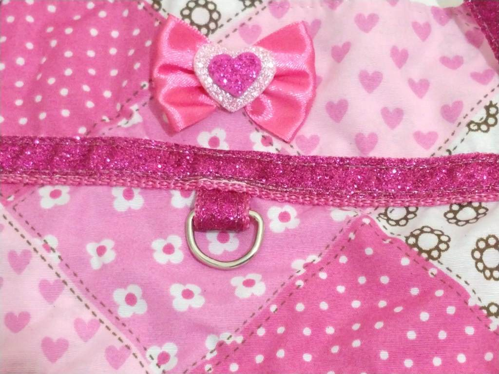 Vestido Peitoral Com Guia Cachorro Estampado Rosa Tamanho P