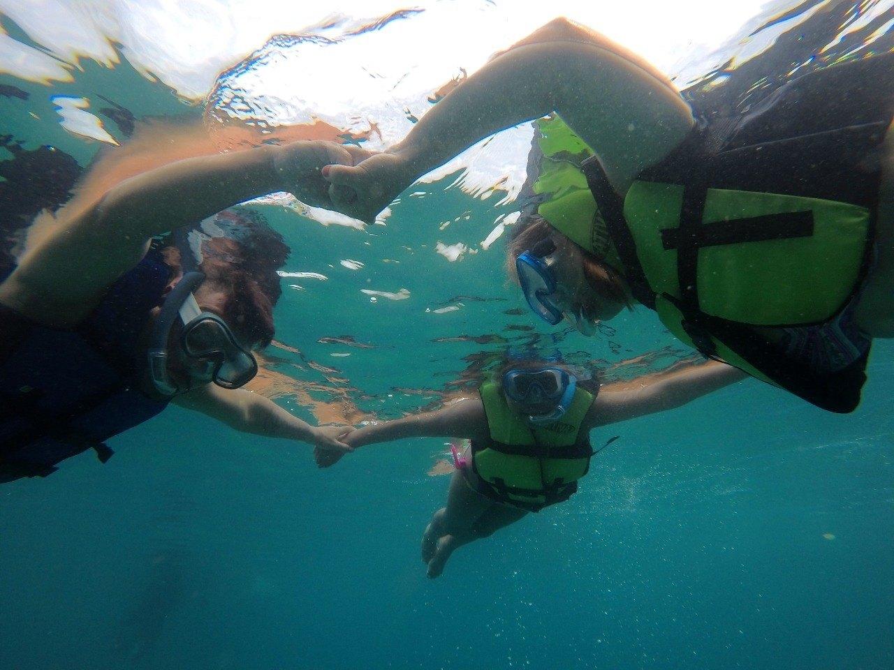Mergulho de Flutuação para 3 pessoas na Ilha das Couves, Ubatuba-SP