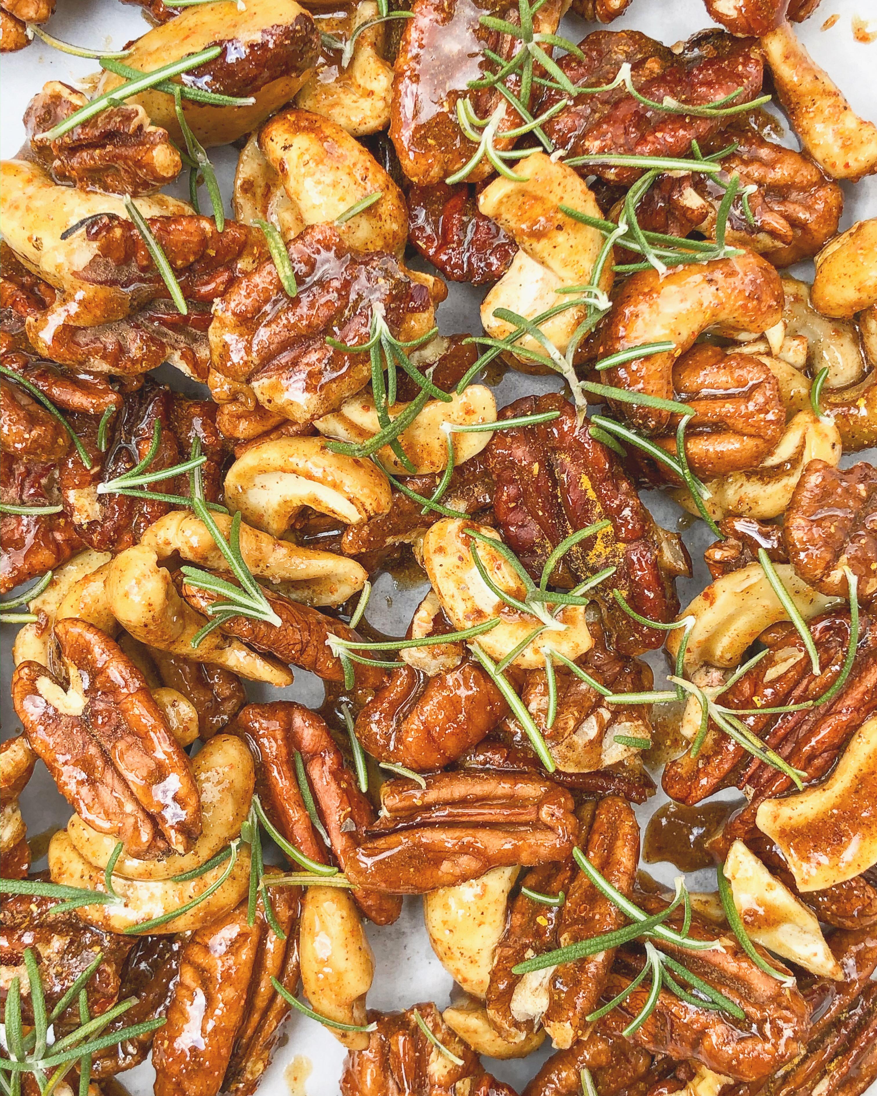 receita nuts, curry & alecrim