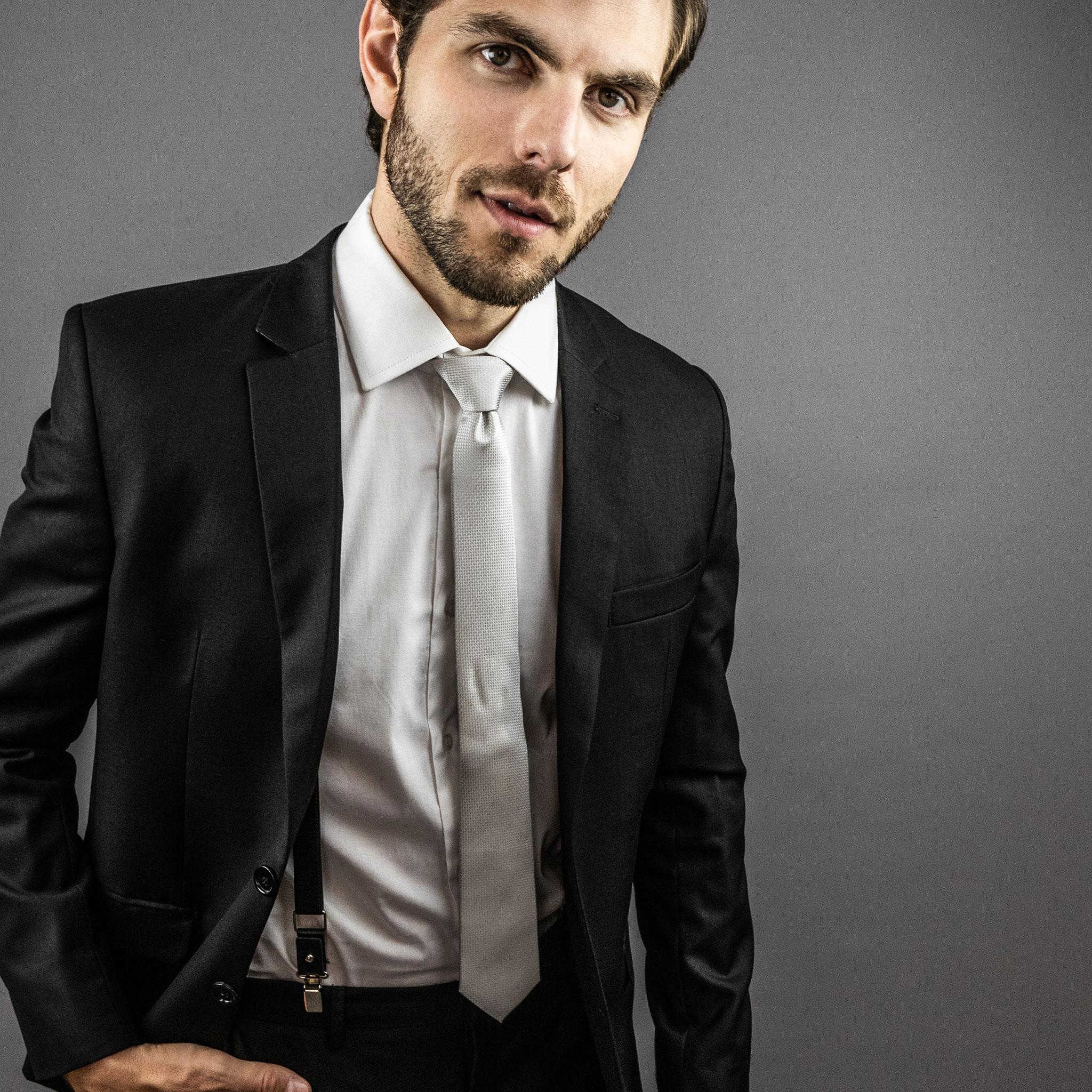 gravata prata para o noivo