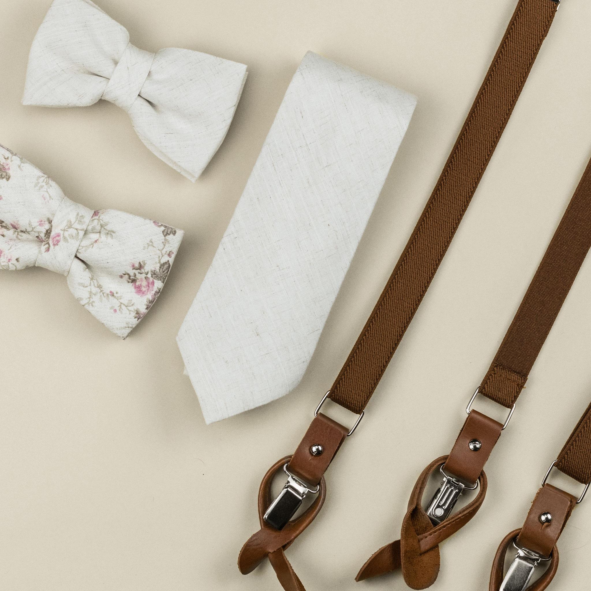 gravata off white para o noivo