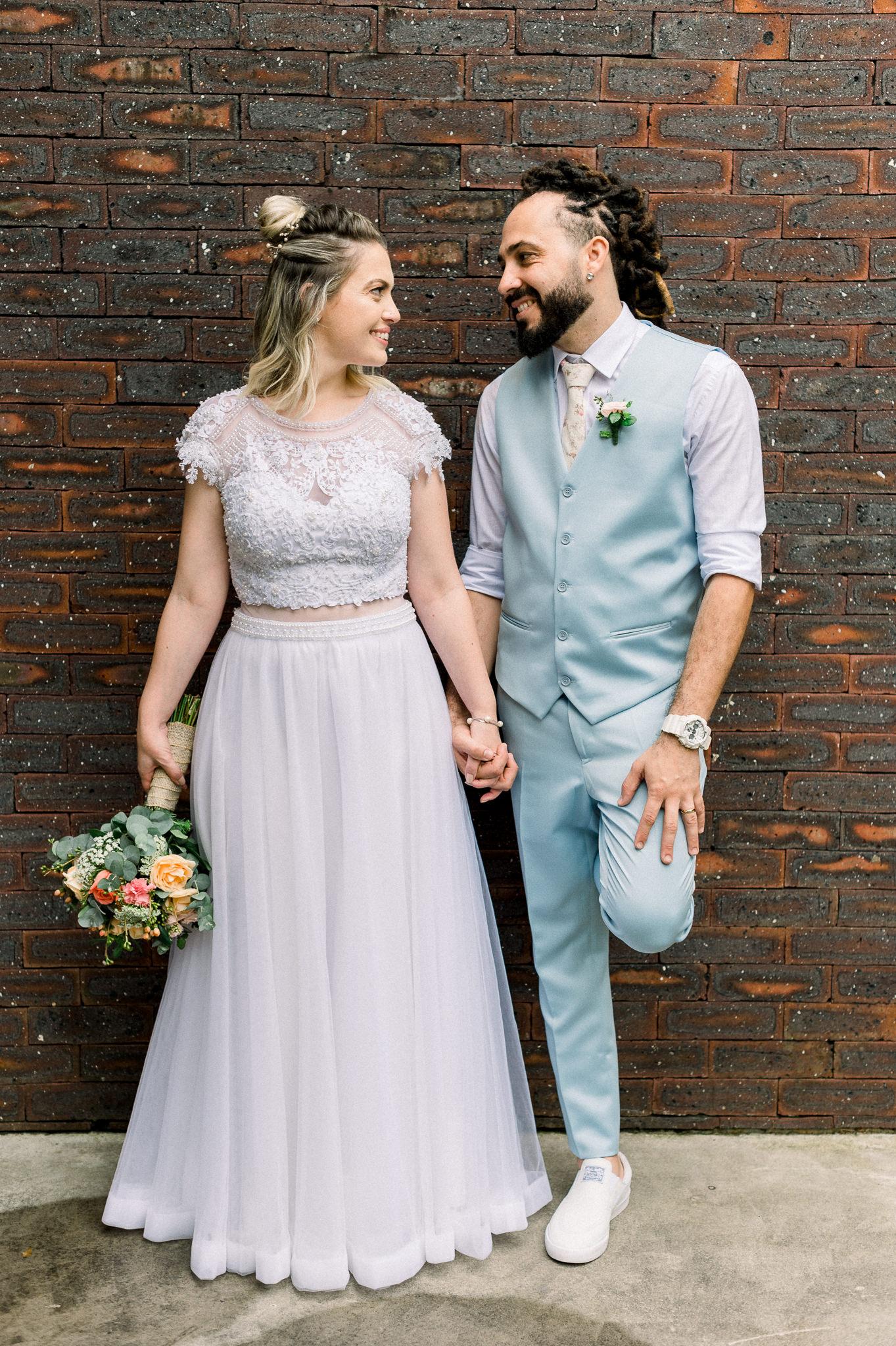 gravata floral para o noivo