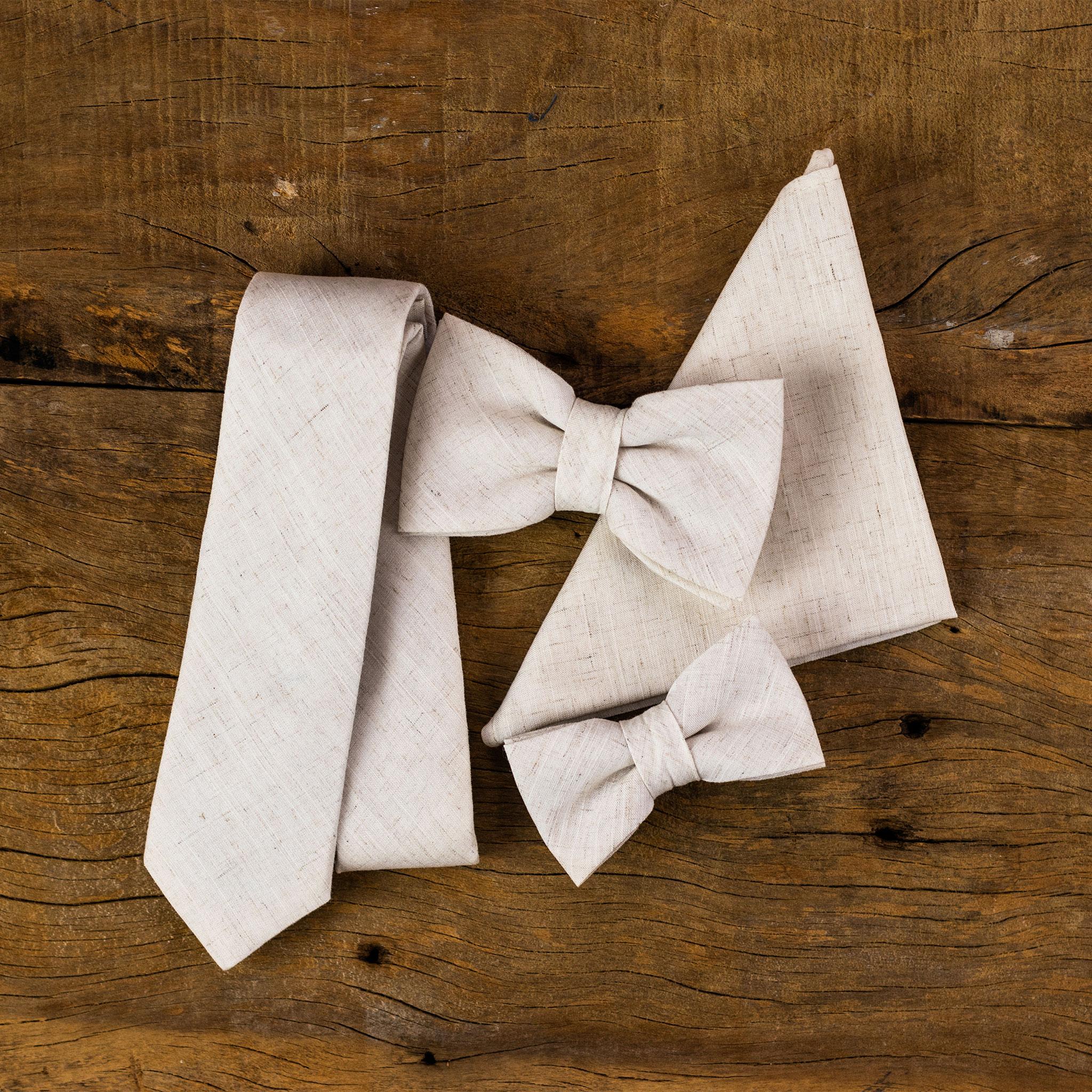 gravata bege de linho para casamento