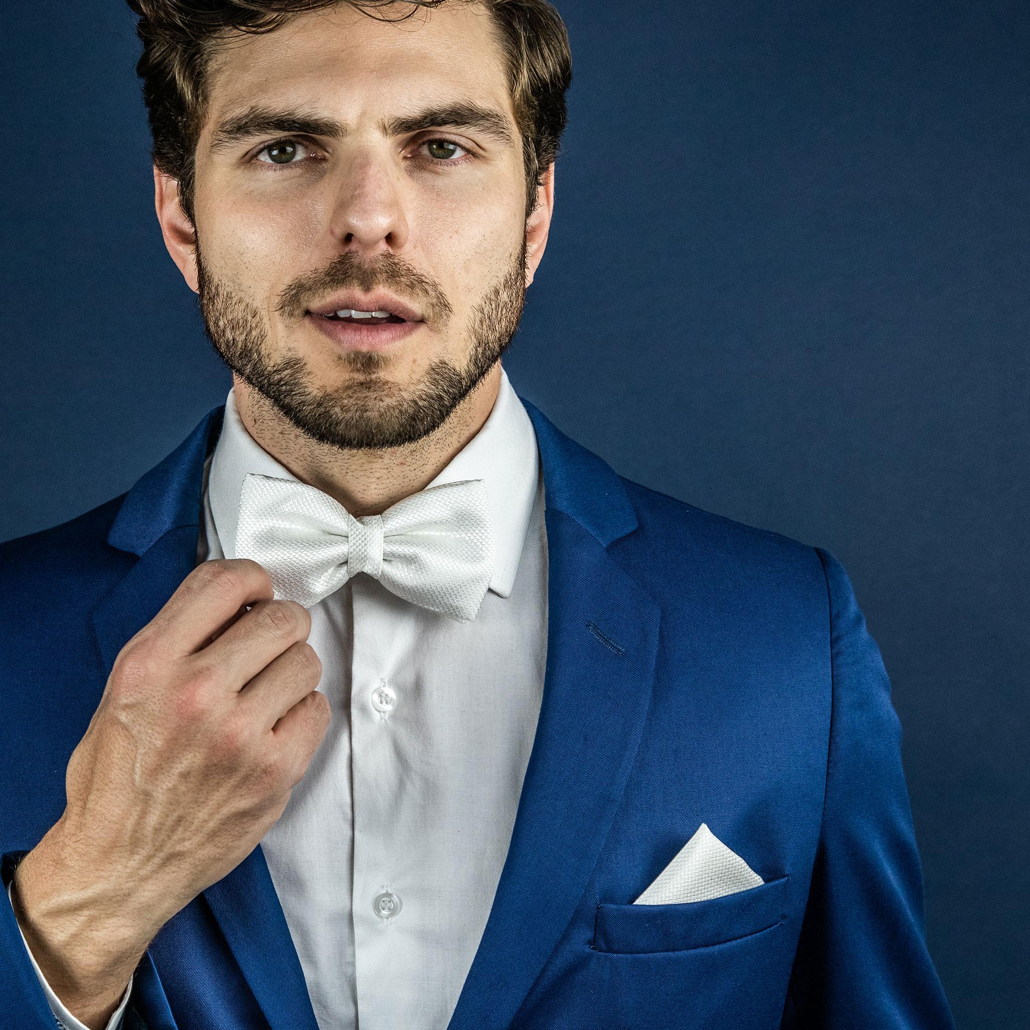 gravata branca para o noivo