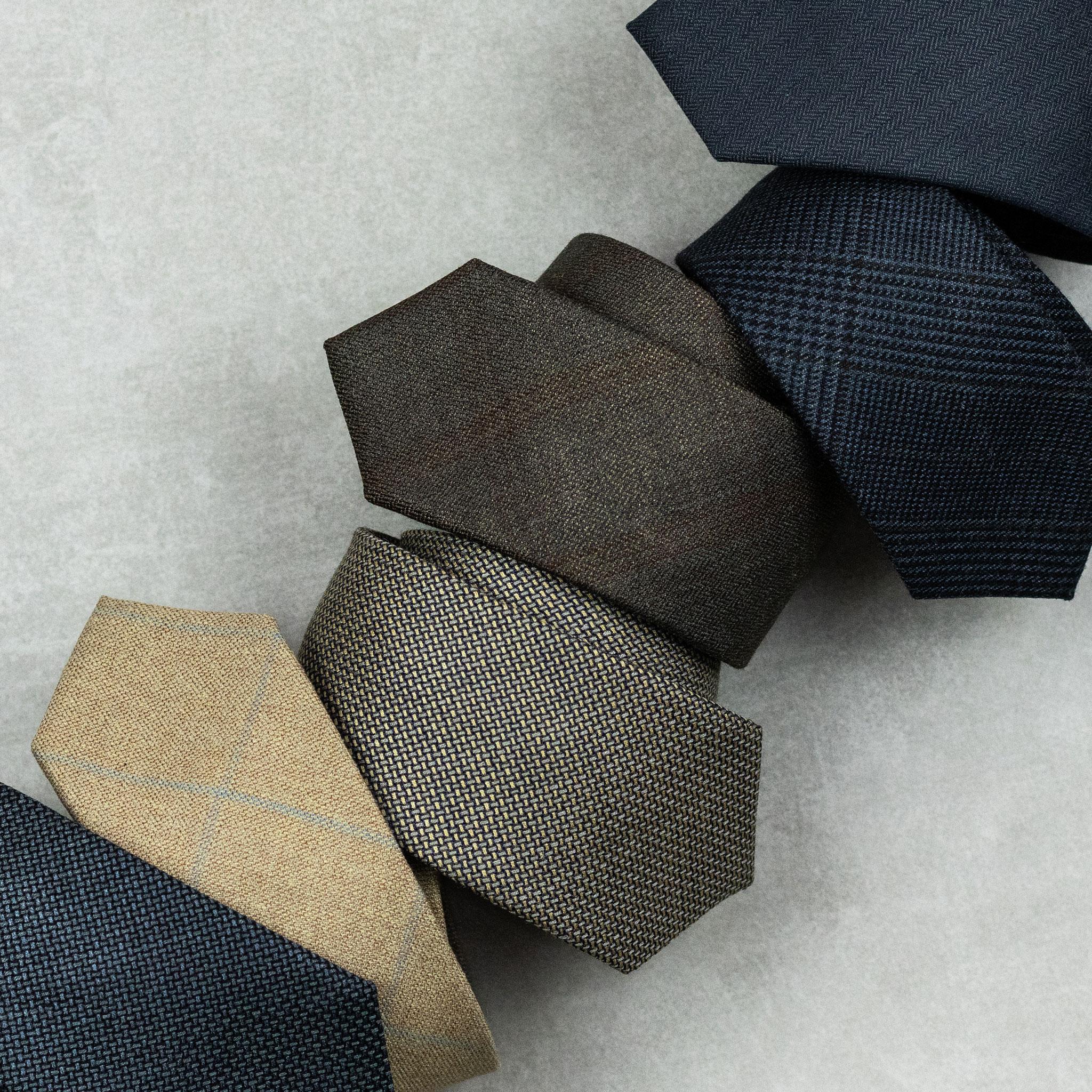 gravatas de lã com seda