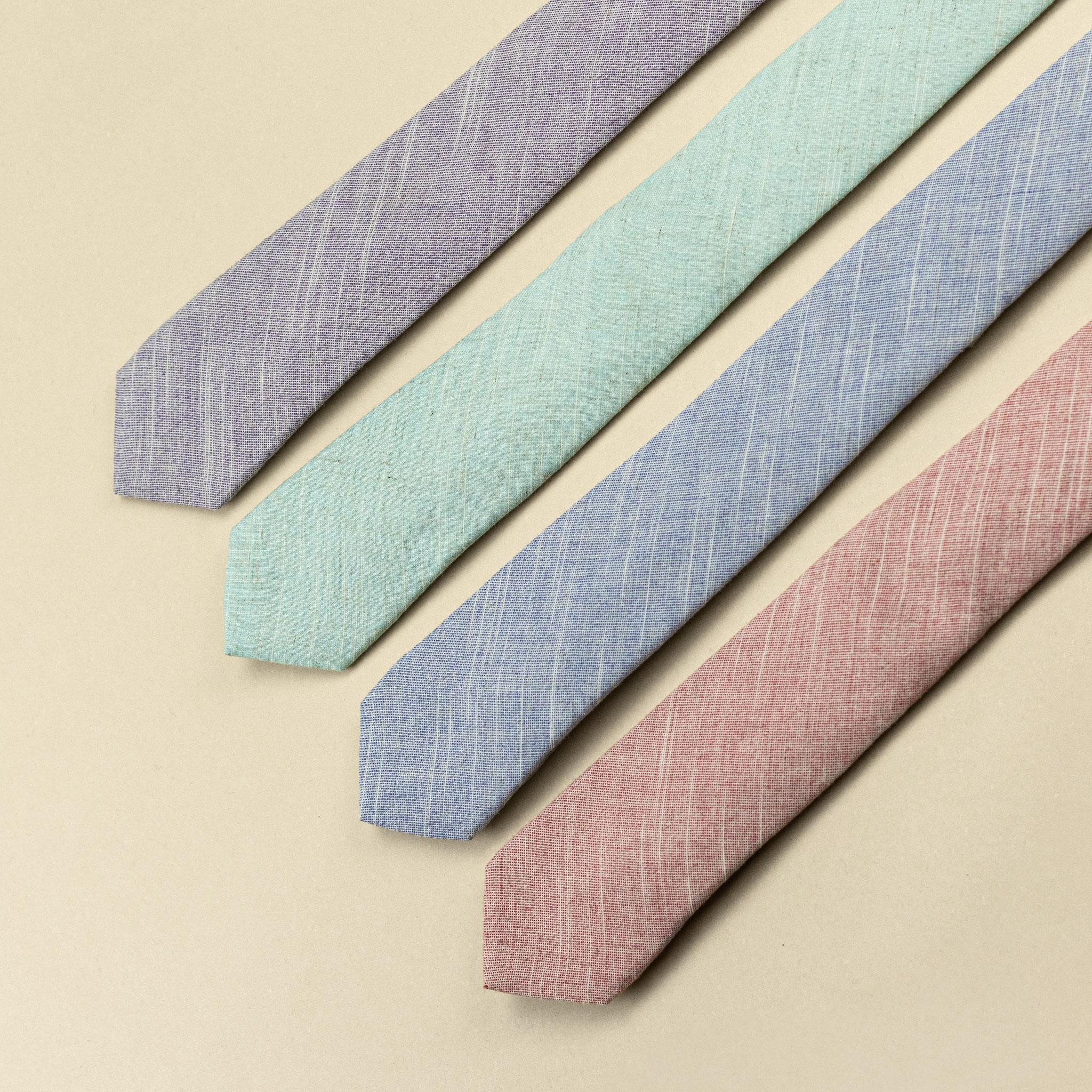 gravata slim de linho