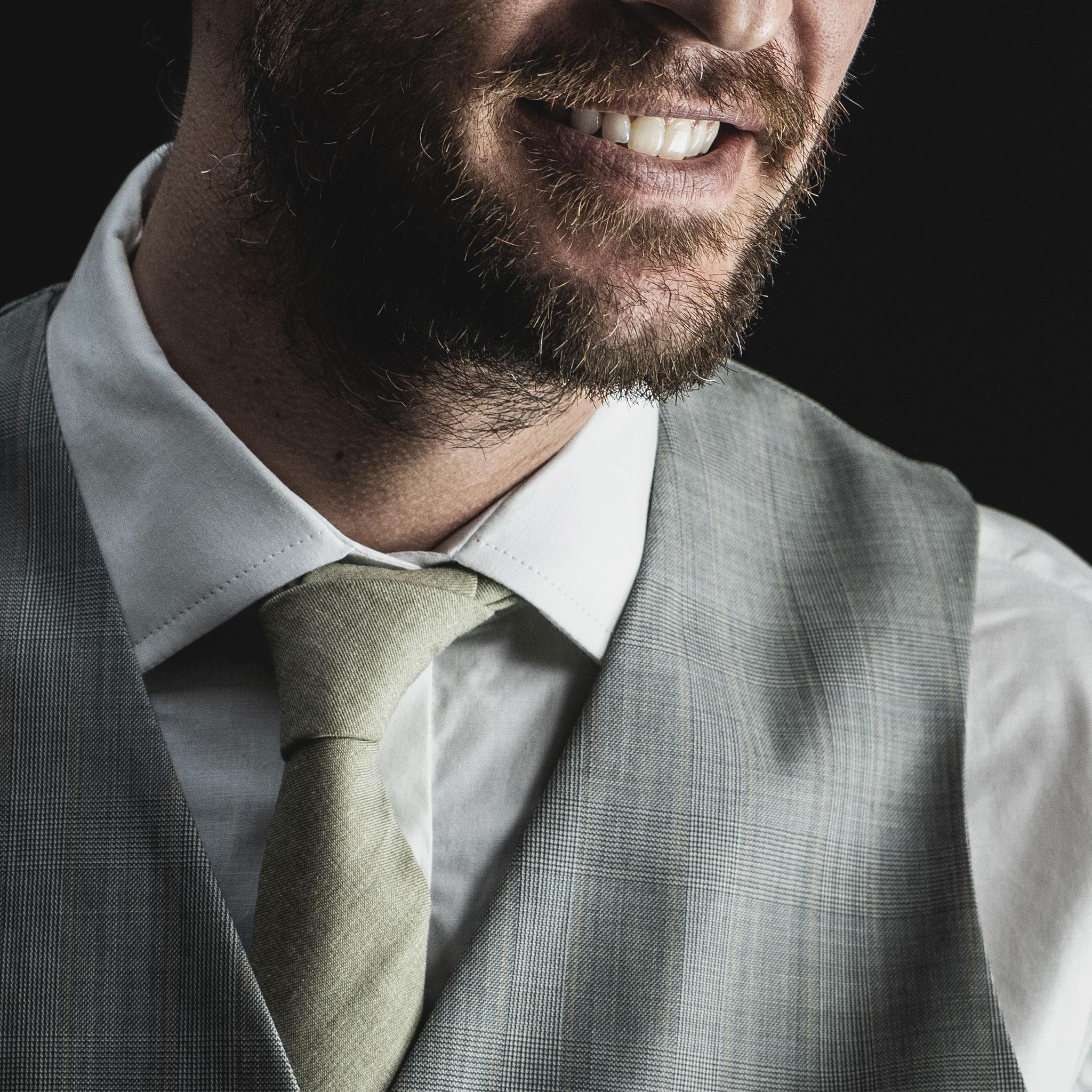 gravata bege