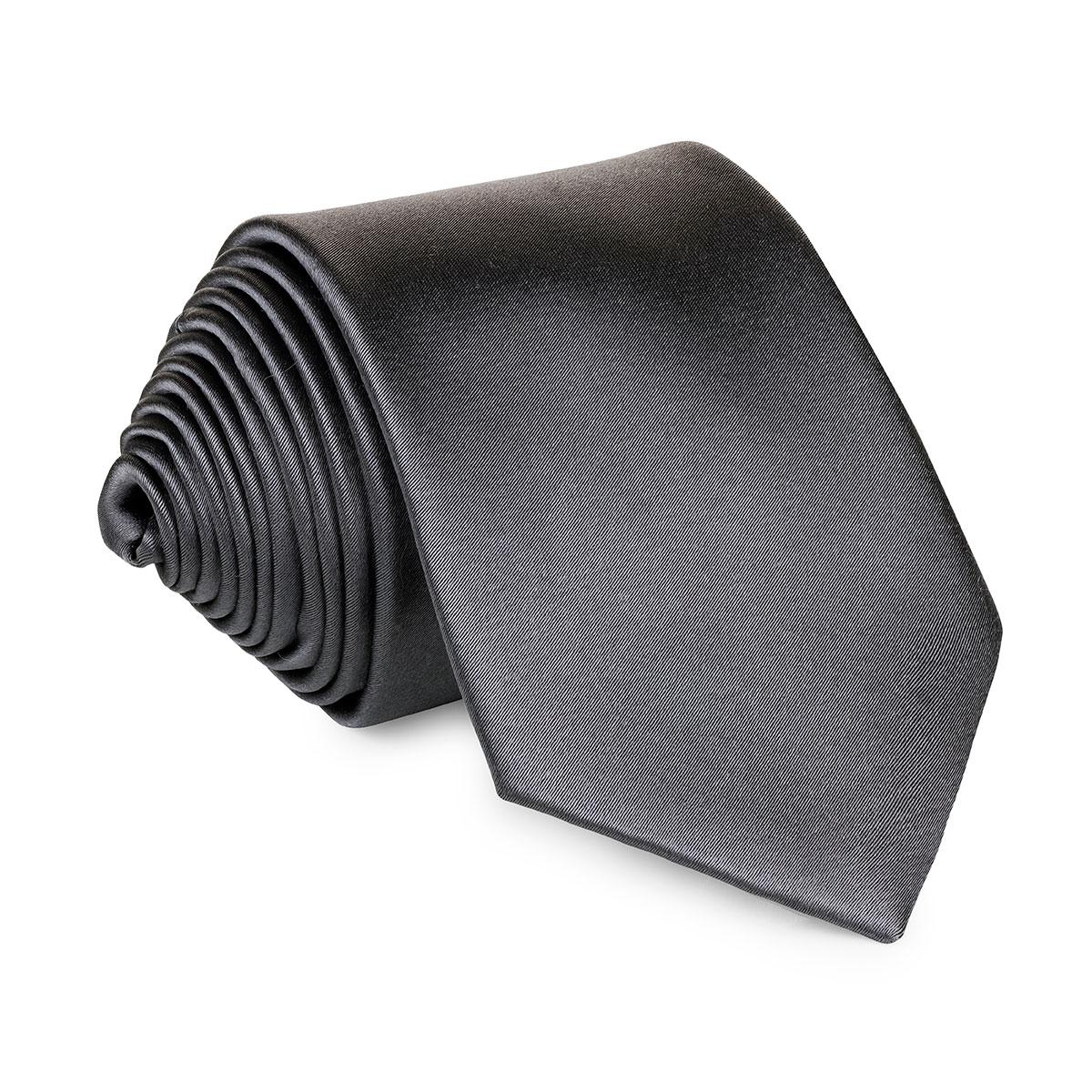 gravata de seda cinza