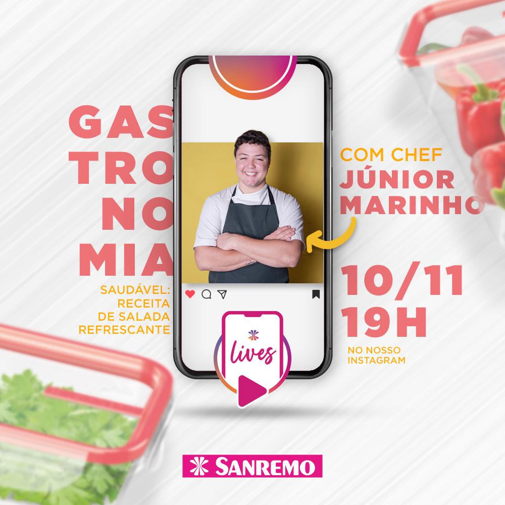 Mestre do Sabor Júnior Marinho é convidado da live Sanremo