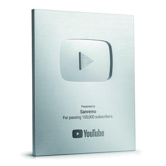 YouTube reconhece o sucesso do Canal Sanremo