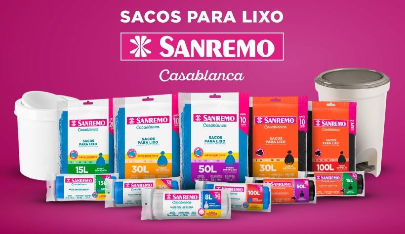 Sanremo lança linha de sacos para lixo