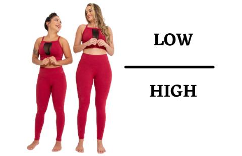 ENTENDA A DIFERENÇA DAS LEGGINGS LOW E HIGH