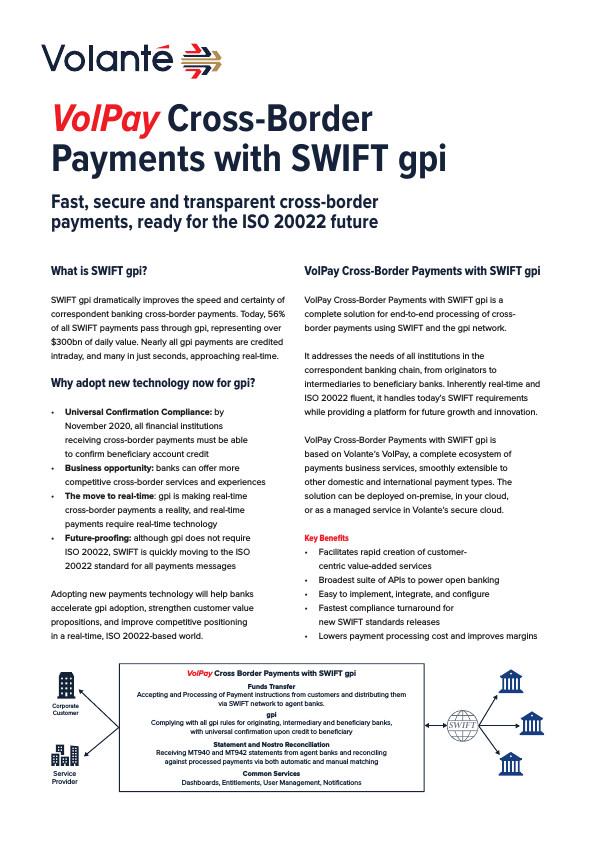 VolPay for SWIFT gpi