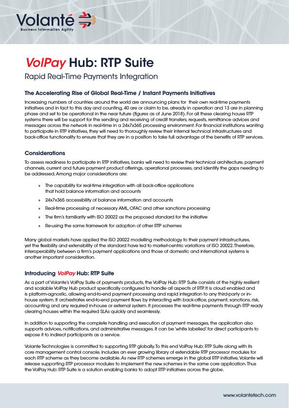 VolPay Hub RTP