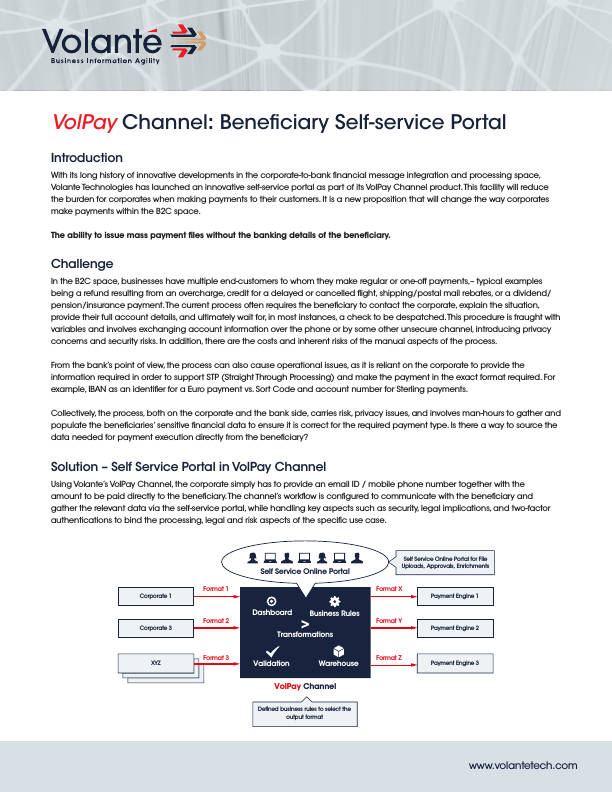 VolPay Channel: Beneficiary Self-service Portal