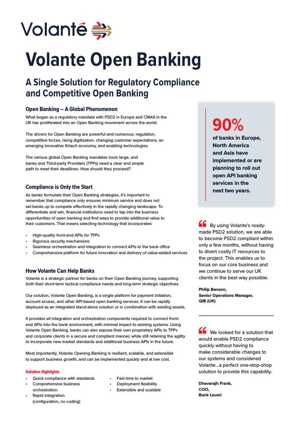 Volante Open Banking