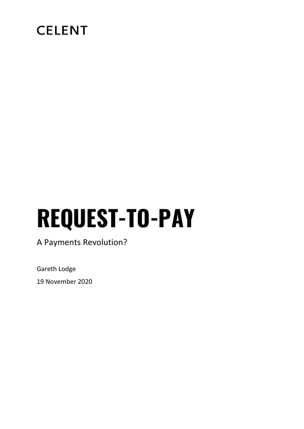Celent Request to Pay