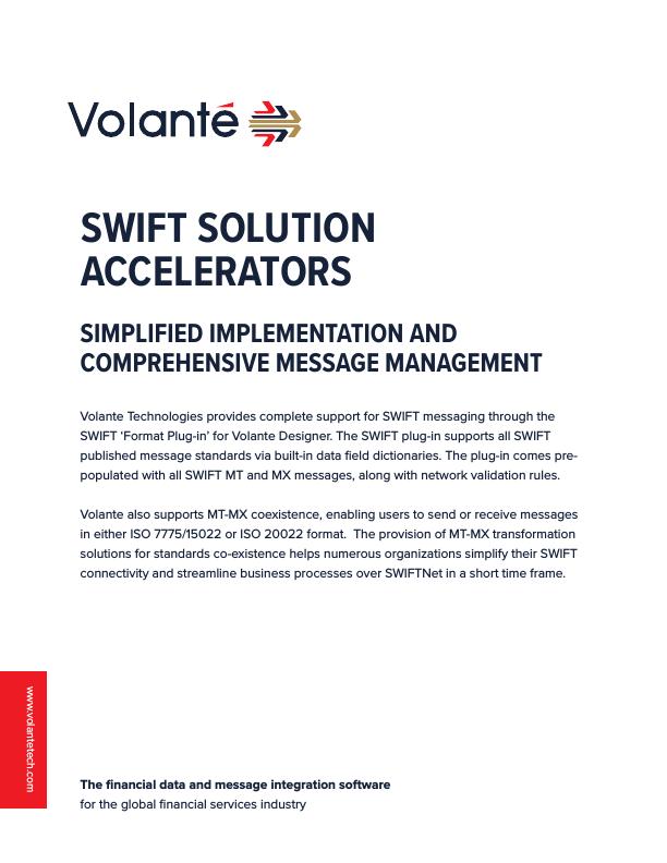 Volante SWIFT Solution Accelerators