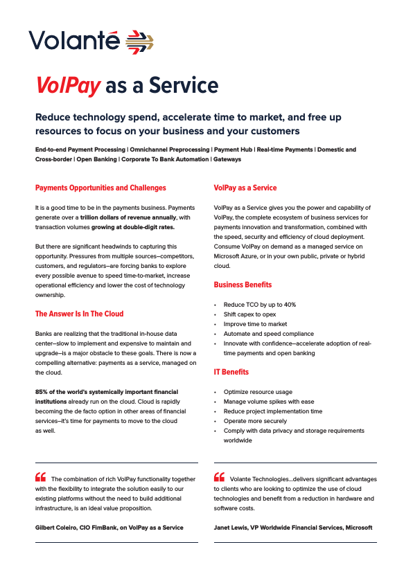 VolPay as a Service