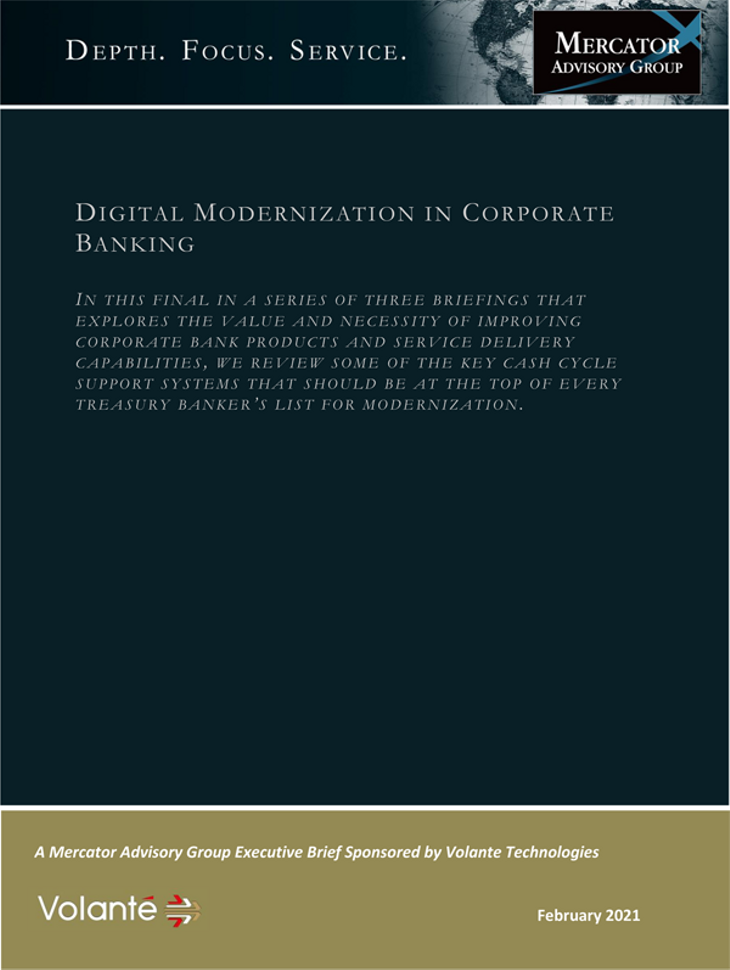 Digital Modernization In Corporate Banking - page 1
