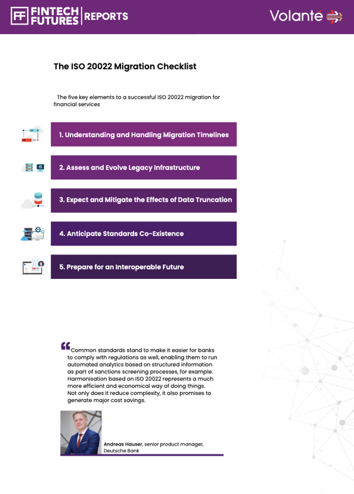 Fintech Futures ISO 20022 5  - page 2